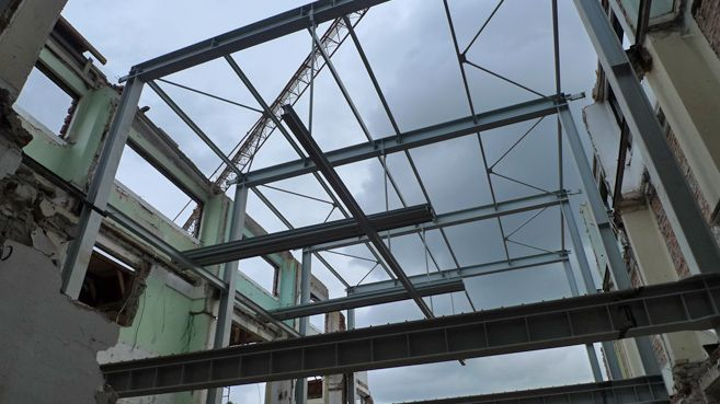 steel structure and hanging mezzanine