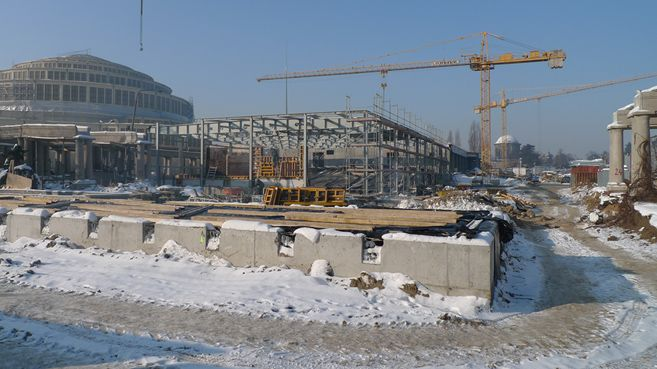 construction site on Jan 2010...
